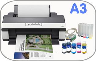 Принтер Epson Stylus 1100, с установленной СНПЧ